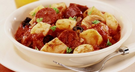 Potato and chorizo bake recipe