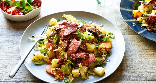 Thai beef and potato salad recipe