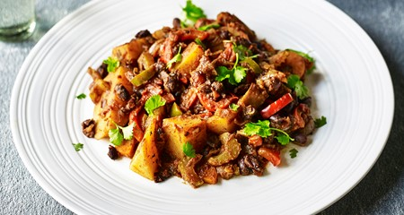 Jerk potato and black bean curry recipe
