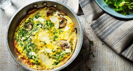 Potato and mushroom omelette recipe