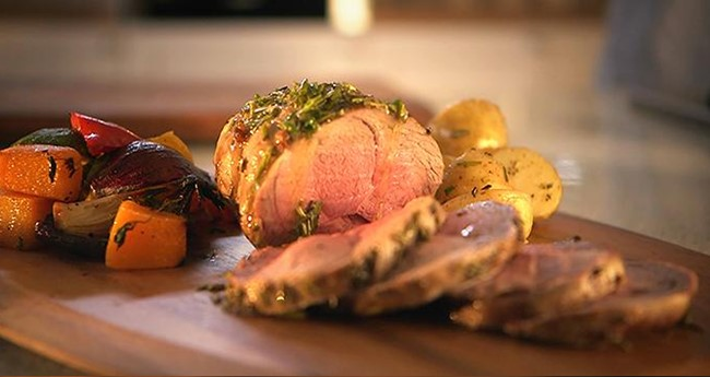 Lamb Mini Roast with Rosemary Butter