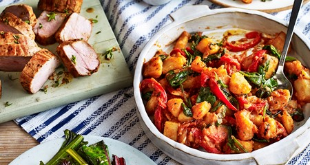 Flamenco potatoes pork tenderloin recipe