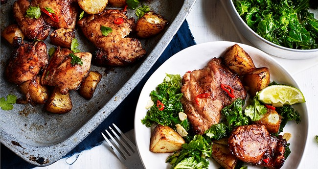 Beijing spiced potato and chicken roast recipe