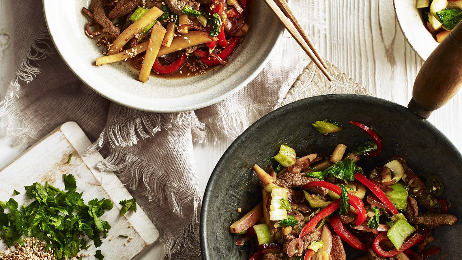 Hot Wok Potato and Beef Stir-fry