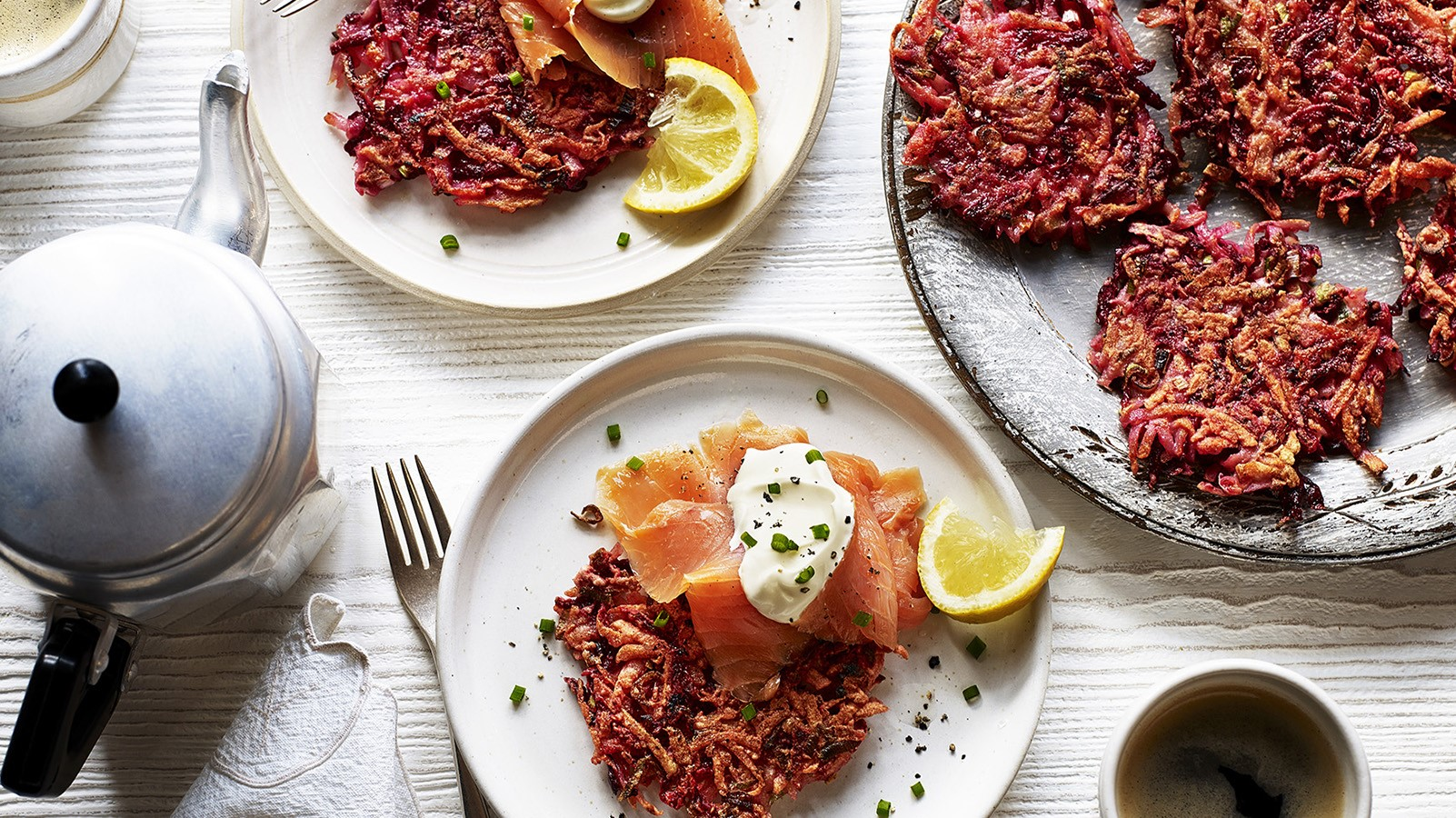 Potato and Beetroot Latkes