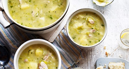 Chunky potato and chicken soup recipe