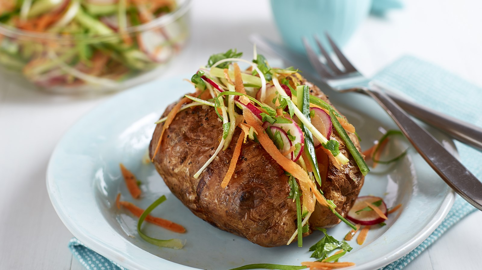 Asian Slaw Baked Potato