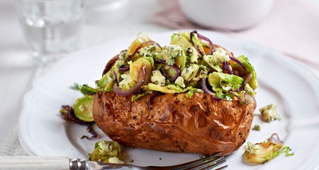 Christmas leftover jacket potato recipe
