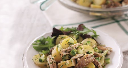 Potato salad with warm mackerel recipe