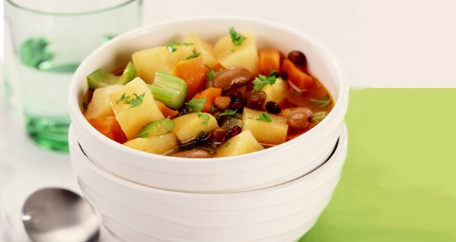 Vegetarian recipes potatoes meal ideas love potatoes chunky potato and bean soup recipe forumfinder Choice Image