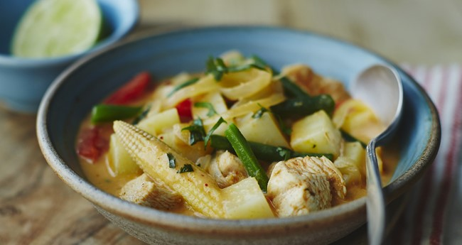 Thai potato and chicken curry recipe by Jo Pratt