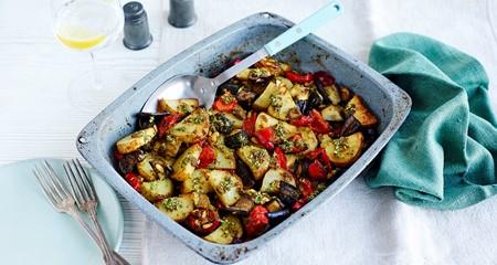 Mediterranean potato and vegetable bake recipe