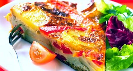 Red Pepper & Potato Frittata Recipe