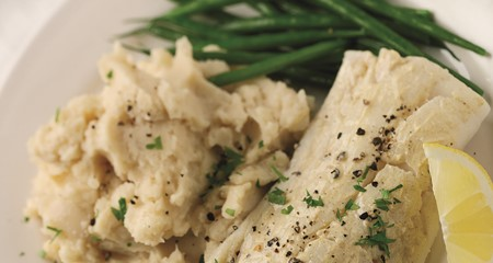 Mustard Mash with Poached Cod Recipe
