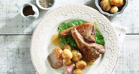 Roasties with Lamb Cutlets and Greens Recipe
