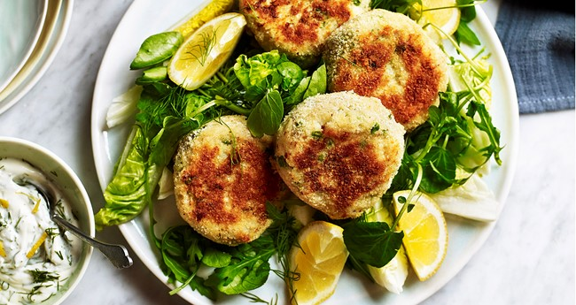 Cod Fish Cakes with Melted Cheddar Centre Recipe