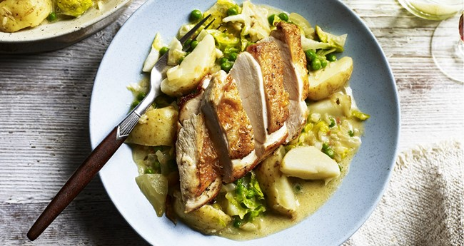Chicken and Potato Fricassee Recipe