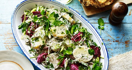 New Season Potato & Beetroot Salad Recipe