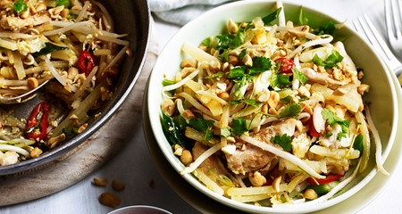 Potato and Chicken Pad Thai Recipe