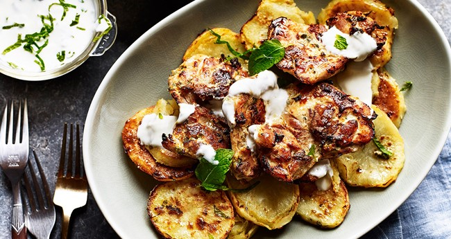 Tandoori Style Chicken and Potatoes Recipe