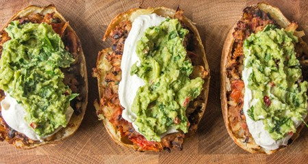 Deliciously Ella's Loaded Mexican-Style Potato Skins