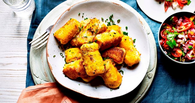 Ham, Cheese and Potato Croquette