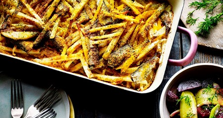 Jansson's Temptation Style Fish & Potato Gratin