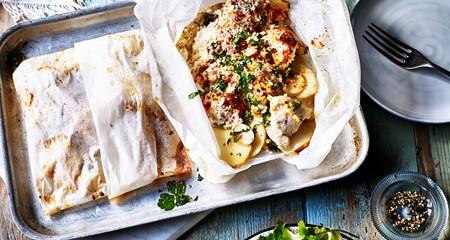 recipe: chicken and potato parcels [12]