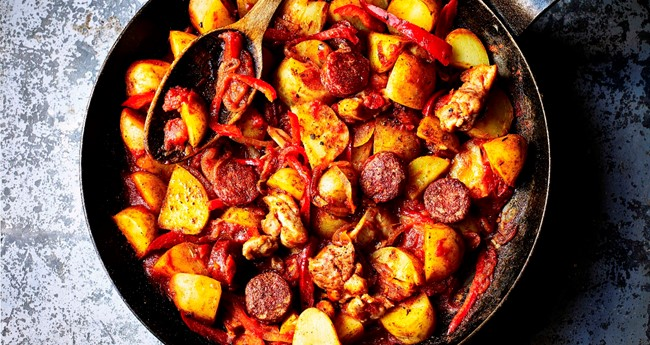 Cajun spiced chicken and potato one pot