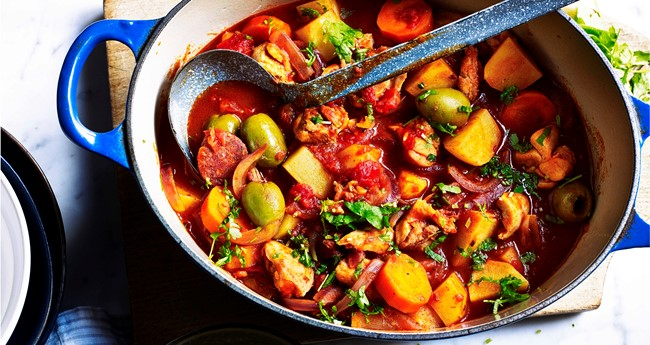 Spicy Spanish chicken & potato stew